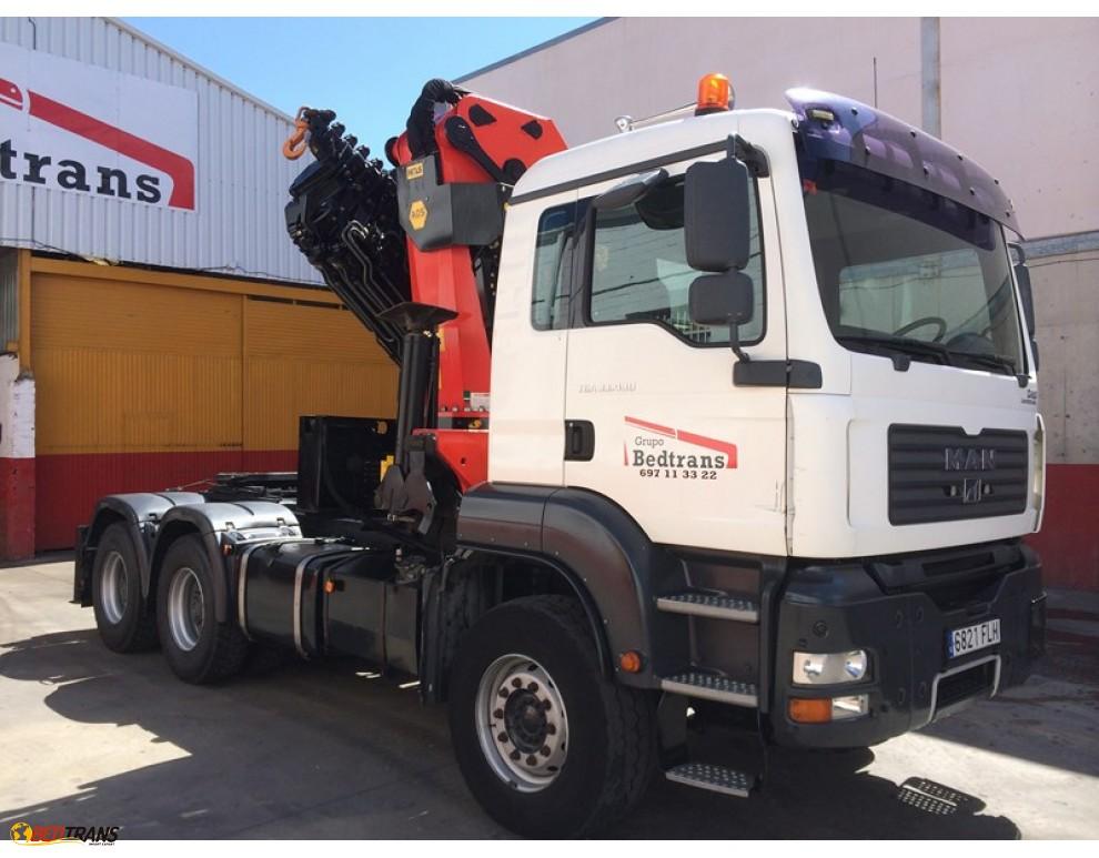 camion grue occasion man tga pour l 39 offre de vente de tracteur 6x4 spain trucks sales