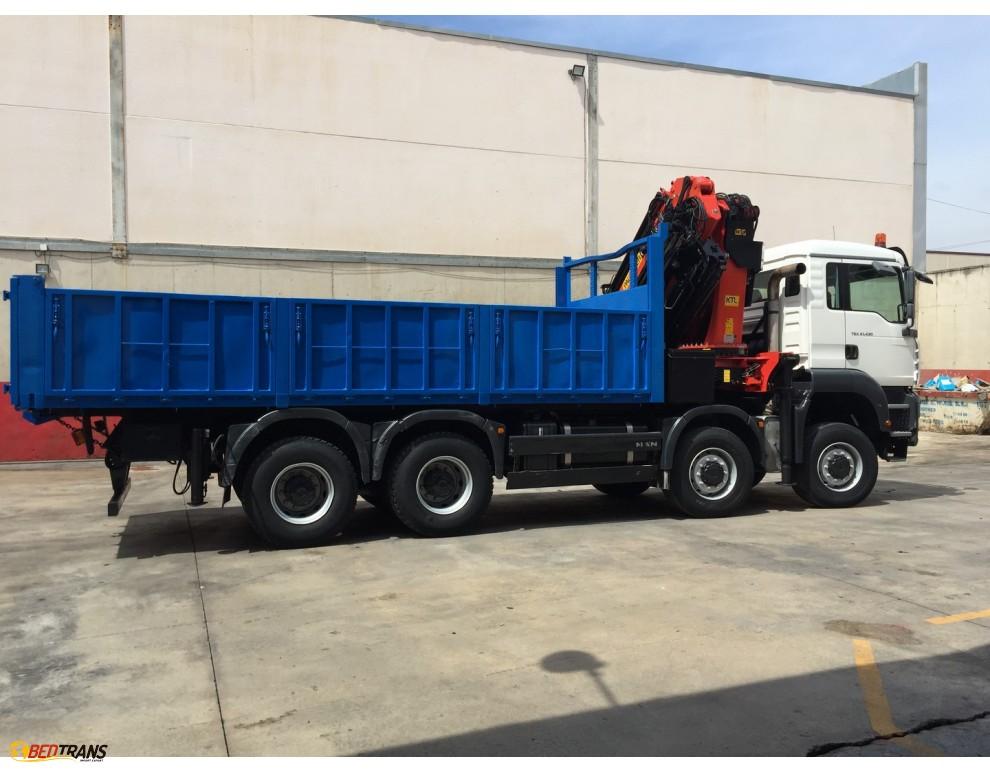 Used truck jib crane : Used truck crane box palfinger with jib