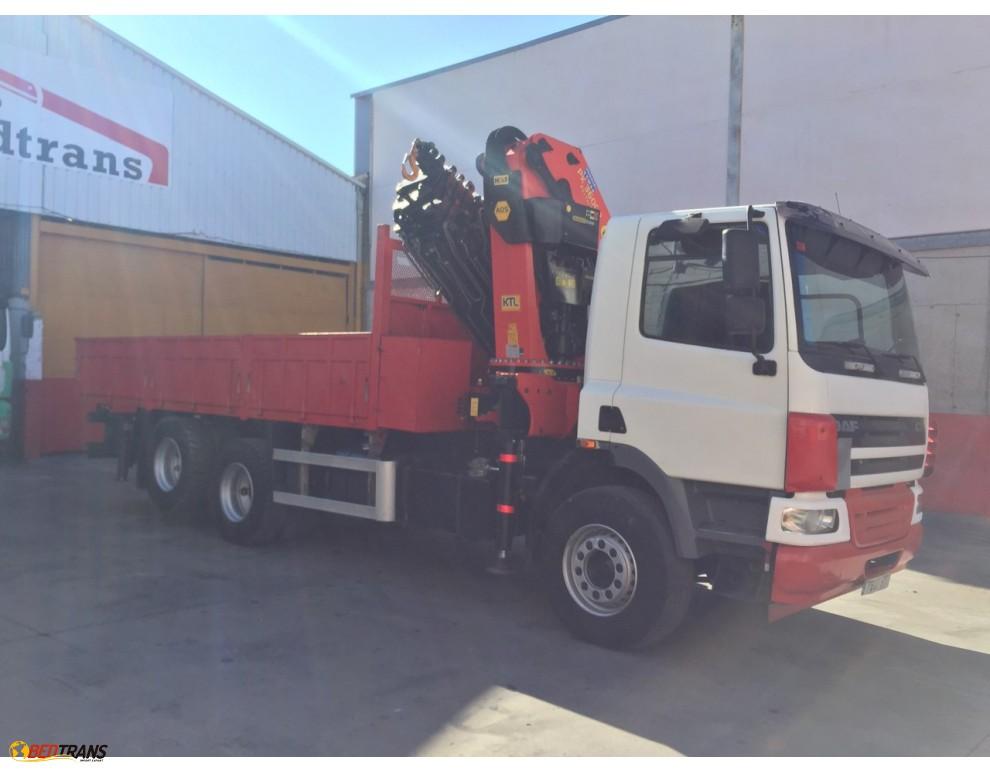For sale old used truck crane palfinger jib daf Spain Trucks Sales