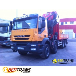 Camión Grúa Fassi 660 axp Iveco Trakker 410