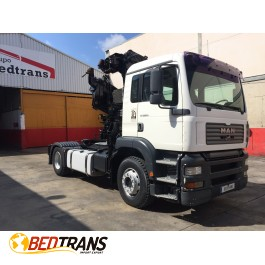 Tractor with crane MAN TGA 360 HIAB 215